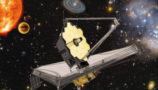 Artist's impression of the NASA/ESA/CSA James Webb Space Telescope.  ©ESA, NASA, S. Beckwith (STScI) and the HUDF Team, Northrop Grumman Aerospace Systems / STScI / ATG medialab