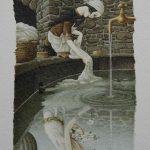 illustrazioni per Cinderella, testo di Charles Perrault, Mankato, Minnesota, Creative Education, 1983. Acquerello su carta Fabriano.