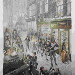 illustrazioni per A Christmas Carol, testo di Charles Dickens, Mankato, Minnesota, Creative Education, 1996. Acquerello acrilico e acquerello su carta SchoellerShammer